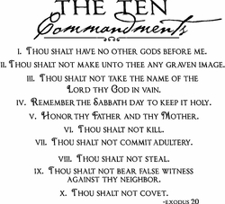 The Ten Commandments Christian Wall Quotes