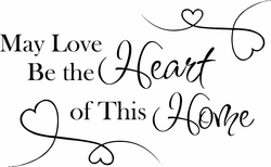 Heart of This Home Wall Quote Decal