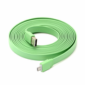 10 Ft Flat Micro USB Cable - Green