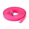 10 Ft Flat Micro USB Cable - Pink