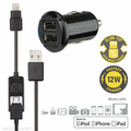 Car Charger for Apple Lightning Devices w/USB Port
