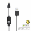 Charge & Sync Cable for Lightning/Micro USB Devices - Black