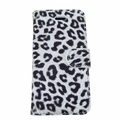 iPhone 5/5S White Leopard Case with Wallet