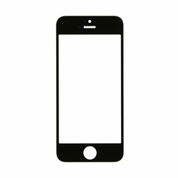 iPhone 5,5c,5s Glass Lens Screen Replacement - Black