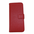 iPhone 5C Leather Case With Wallet - Red