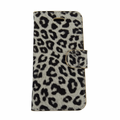 iPhone 5C Yellow Leopard Case with Wallet