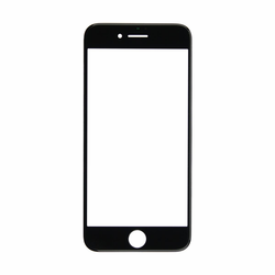 iPhone 7 Glass Lens Screen and Frame - Black (Cold Pressed)