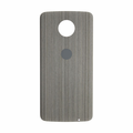 Motorola Moto Z Force Droid Back Cover - Silver Oak (Wood Style)