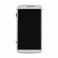 """Samsung Galaxy Mega 6.3"""" LCD & Touch Screen with Frame - White (GSM)"""