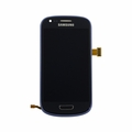 Samsung Galaxy S3 Mini i8190 LCD & Touch Screen with Frame - Blue