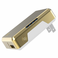 Scosche GoBat 3000 Portable Wall Charger & Backup Battery - White/Gold