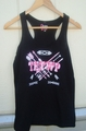 Ladies Black Racerback Tank