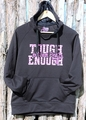 Ladies Black Tech Fleece Hoodie