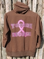 Ladies Brown Zip Up Hoodie