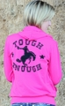 "Ladies Pink ""Bronco"" Zip Up Hoodie"
