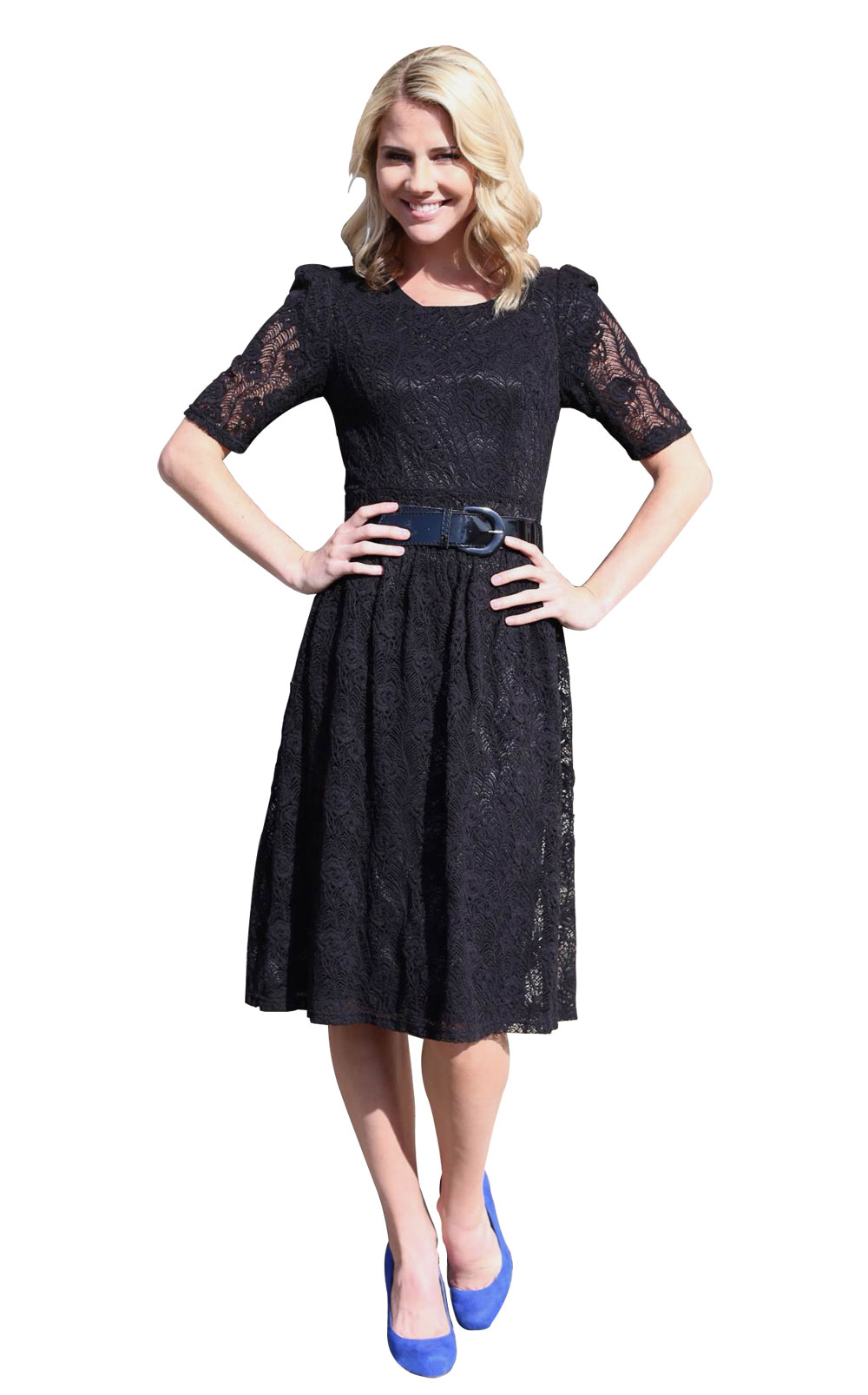 Modest Dresses: Abby Lace in Black