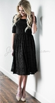 """Addison"" Modest Dress in Black Lace"