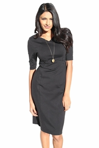 Alyssa Modest Dress in Black