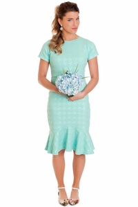 Amber Modest Dress in Mint