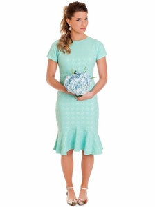 Amber Modest Dress in Mint *Final Sale*