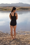 """Avery"" Modest Tankini Top in Black"