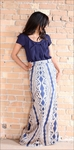 """Aztec Maxi"" Modest Skirt in Navy *Final Sale*"