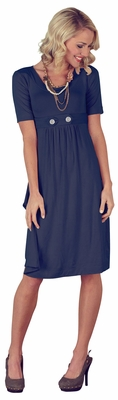 """Bailey"" Modest Dress in Navy Blue *BACK IN STOCK*"