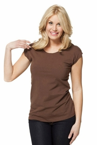 Modbod Basic Cap Sleeve Shirt in Mocha