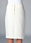 Belle Modest Pencil Skirt in Cream (Available in Regular & Tall)
