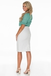 Belle Modest Pencil Skirt in Cream (Available in Regular & Tall) *Final Sale*