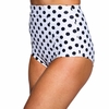 Bombshell Swim Bottoms in Charcoal Polka Dot