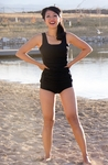 """Boyshort"" Modest Tankini Bottoms in Black"