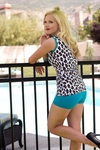 """Boyshort"" Modest Tankini Bottoms in Teal *Final Sale*"