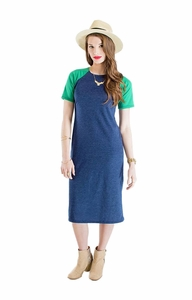 """Camille"" Raglan Sleeve Modest Dress"