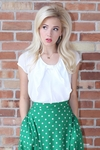 Chiffon Bow Top in White *Final Sale*