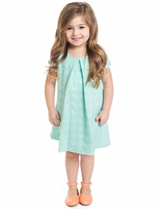 Chloe Modest Little Girl Dress in Mint