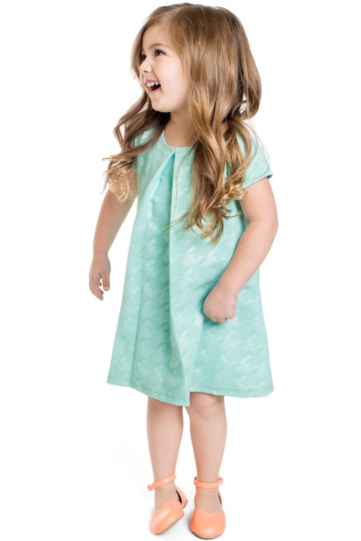 Modest Little Girl Dress in Mint Flower Girl Dresses