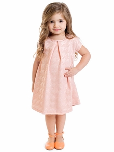 Chloe Modest Little Girl Dress in Pink