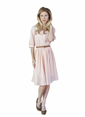 Clara Modest Dress in Rose