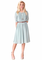 Clara Modest Dress in Sage *BACK IN STOCK*