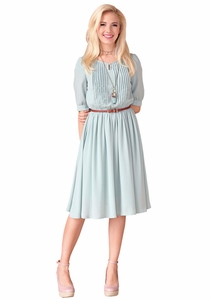 Clara Modest Dress in Sage