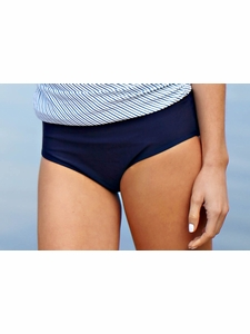 Classic Brief Modest Tankini Bottoms in Navy Blue