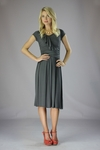 """Ellie"" Modest Dress in Dark Grey"