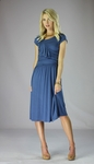 """Ellie"" Modest Dress in Egyptian Blue"