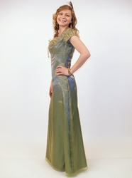 """Fairy Tale"" Modest Prom Dress in Iridescent Green"