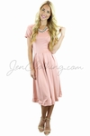 """Grace"" Modest Dress in Blush Pink"