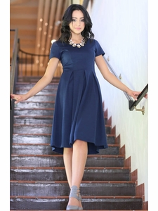 """Grace"" Modest Dress in Navy Blue"