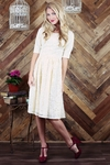 """""""Haley"""" Modest Dress in Cream Lace"""