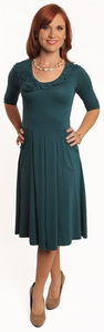 """Hannah"" Modest Dress in Teal"