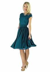 """Isabel"" Modest Dress in Deep Ocean Blue"
